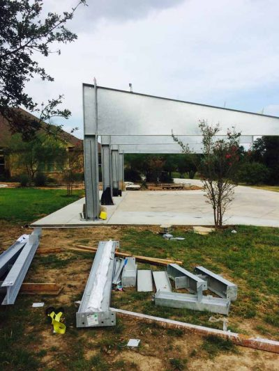 Project Georgetown Solar Panel Cantilever Foundation, Georgetown, Tx